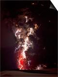 Volcanic Lightning, Iceland, April 2010 Prints by Olivier Vandeginste