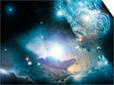 Primordial Quasar, Artwork Prints by  NASA