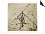 Measuring Instruments Poster by  Leonardo da Vinci