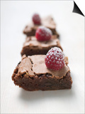 Brownies with Raspberries Posters