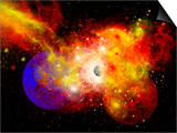 A Dying Star Turns Nova as it Blows Itself Apart Prints by  Stocktrek Images