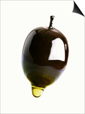 Olive Oil Dripping from an Olive Prints by Dieter Heinemann