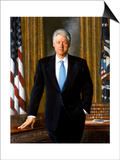 Digitally Restored White House Painting of President Bill Clinton Prints
