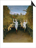 Football Players Posters by Henri Rousseau