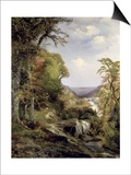 Along the Wissahickon Prints by Thomas Moran