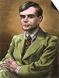 Alan Turing, British Mathematician Print by Bill Sanderson