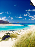 Balos Bay and Gramvousa, Chania, Crete, Greek Islands, Greece, Europe Poster by Sakis Papadopoulos