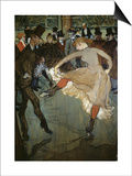 Dance at the Moulin Rouge Poster by Henri de Toulouse-Lautrec