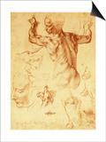 Anatomy Sketches (Libyan Sibyl) Posters by  Michelangelo Buonarroti