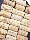 Lots of Different Wine Corks Lying Side by Side Posters