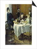 The Luncheon Prints by Claude Monet