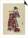 Yokobue, Seven Hole Chinese Flute Prints by  Toyokuni