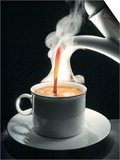 Coffee Being Poured into a Cup Prints by Jürgen Klemme