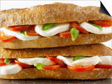 Two Mozzarella and Tomato Baguettes Posters by Paul Williams