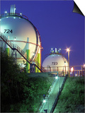 Oil Refinery Storage Tanks Prints by Paul Rapson