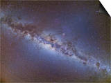 Full Frame View of the Milky Way from Horizon to Horizon Poster
