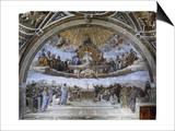La Disputa (Disputation of the Holy Sacrament) Art by  Raphael