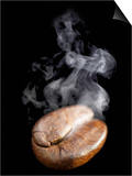 A Freshly Roasted Coffee Bean with Steam Prints by Shawn Hempel