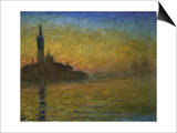 Twilight in Venice Print by Claude Monet