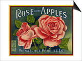 Fruit Crate Labels: Rose Brand Apples; Wenatchee Produce Company Posters