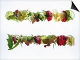 Salad Leaves with Meadow Flowers Prints by Luzia Ellert