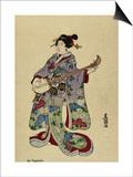 Shamisen Posters by  Toyokuni