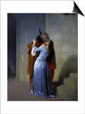 The Kiss Prints by Francesco Hayez