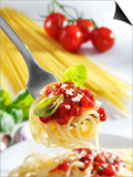 Spaghetti with Tomato Sauce on a Fork Posters by Karl Newedel