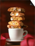 Cantucci Biscuits Piled on a Coffee Cup Prints by Luzia Ellert