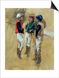 Three Jockeys Prints by Henry Koehler