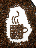 Shape of a Cup of Coffee in Coffee Beans Posters by Gustavo Andrade