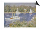 Basin D'Argenteuil Posters by Claude Monet