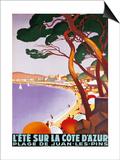 Roger Broders - L'Ete sur la Cote d'azur Obrazy