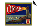 Warshaw Collection of Business Americana Food; Fruit Crate Labels, Omak Fruit Growers Print