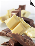 Pieces of White and Dark Chocolate Prints by Jürgen Holz