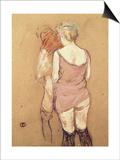 Rue de Moulins: The Medical Inspection Lámina por Henri de Toulouse-Lautrec