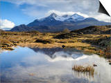 View of the Black Cuillin Mountain Sgurr Nan Gillean, Glen Sligachan, Isle of Skye, Scotland, UK Prints by Chris Hepburn
