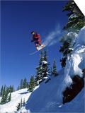 Airborne Snowboarder Poster
