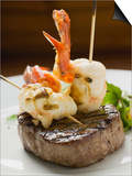 Surf and Turf (Seafood and Beef Steak) Prints