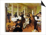 Degas: Cotton Office, 1873 Print by Edgar Degas