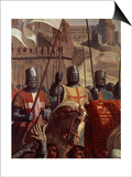 Knights, from Battle of Ascalon, 18 November 1177 Posters by Charles-Philippe Lariviere