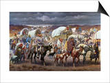 The Trail Of Tears, 1838 Posters by Robert Lindneux