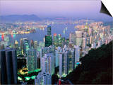 Hong Kong At Dawn Prints by Damien Lovegrove