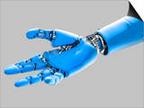 Biomedical Illustration of a Cybernetic or Robotic Arm and Hand Posters by Victor Habbick