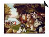 The Peaceable Kingdom Plakater av Edward Hicks
