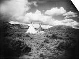 Apache Tepees, C1909 Print
