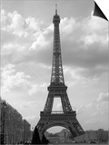 Black and White Eiffel Tower with Sky Background Posters by Jamie Pharr
