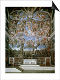 Last Judgement, 1536-41, Fresco, Sistine Chapel, Vatican, Rome Prints by  Michelangelo Buonarroti