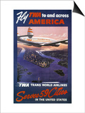 Trans-World Airlines 1950S Poster