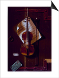 The Old Violin Posters by William Michael Harnett